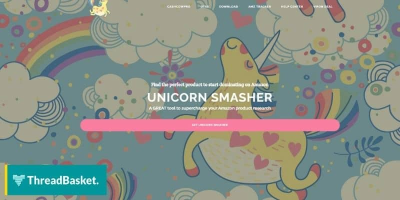Screenshot of Unicorn Smasher website homepage