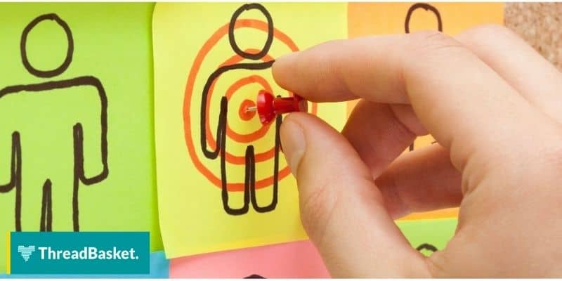 sticky notes with bullseye and pins