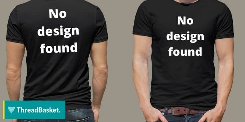 t-shirt with no design and t-shirt model
