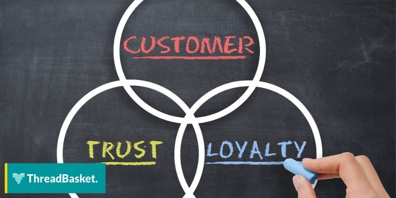 customer trust loyalty circle hand chalkboard