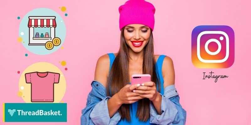 woman using a phone thinking about business on instagram