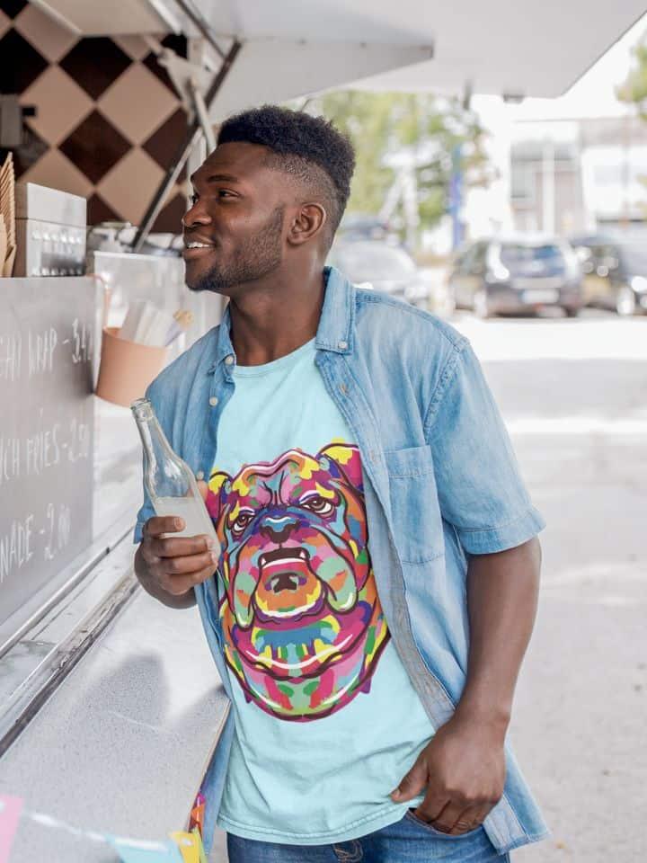 Artistic Bulldog Tshirt Mock Up