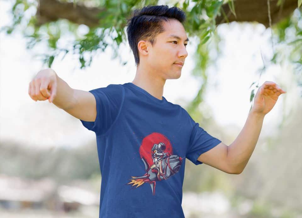 Astronaut Rocket Tshirt Mockup