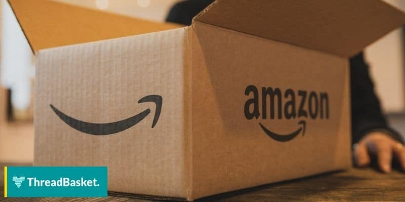 image of an amazon box with amazon logo