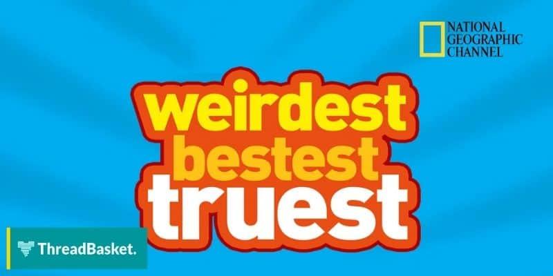 logo of weirdest bested truest kids show on nat geo
