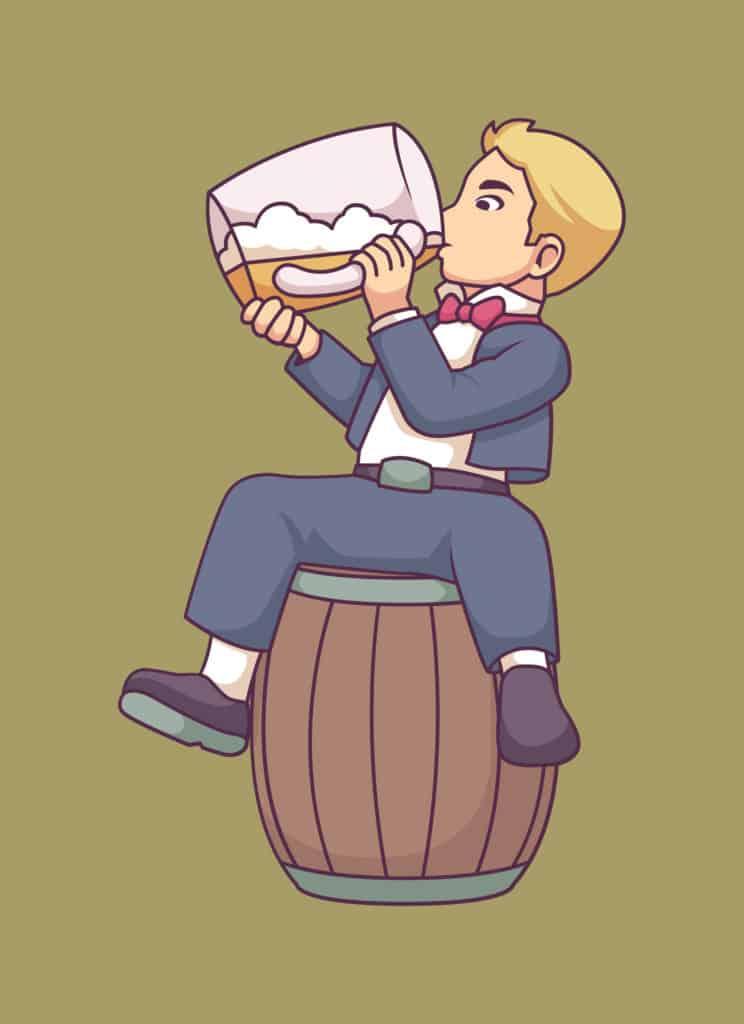 Vintage Beer Boy