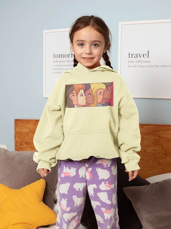 hoodie mockup of a blue eyed little girl 31697