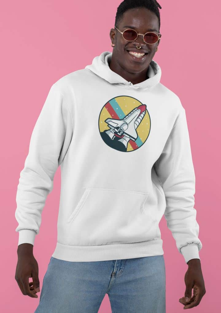 pullover hoodie featuring a stylish man in a studio 30542