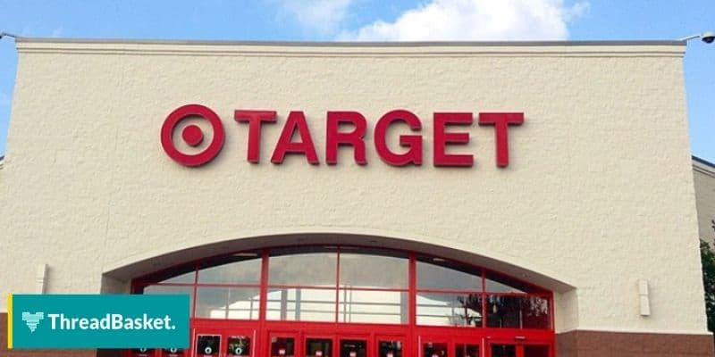 image of a target's storefront with a huge logo on top