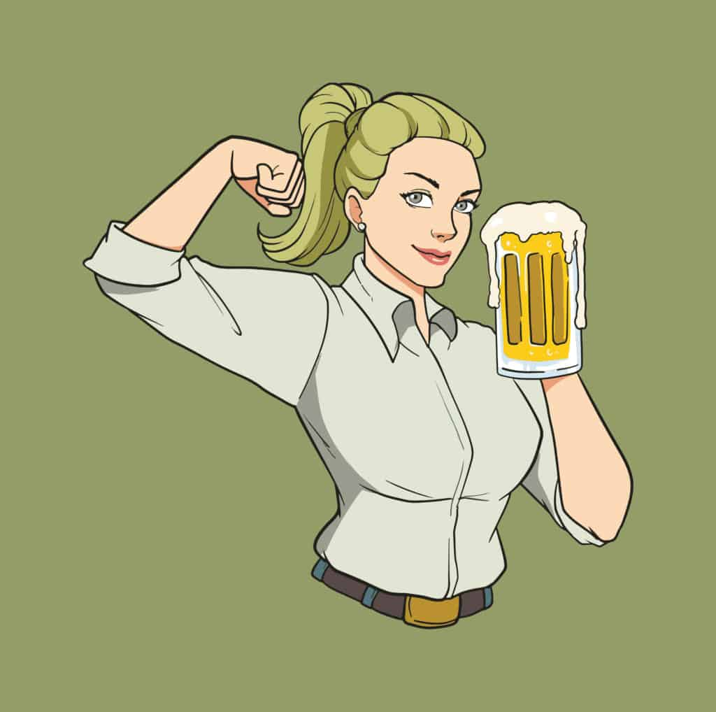 Strong Woman And Beer