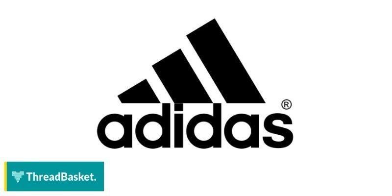 image of adidas logo on white background