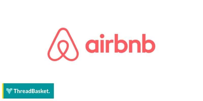 image of airbnb logo on white background
