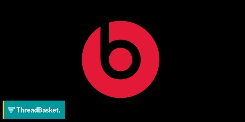 image of beats by dre logo on black background