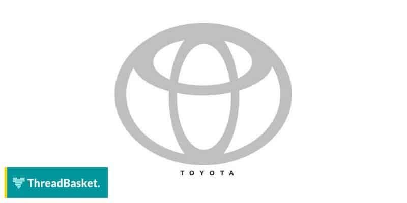 image of toyota logo on white background