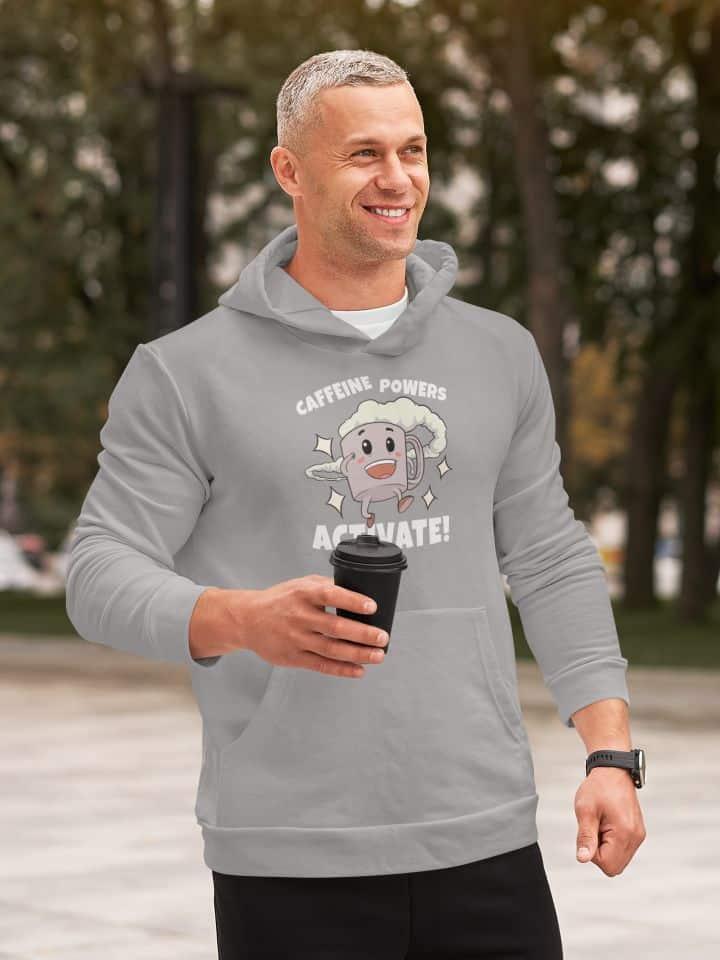 mockup of a smirking man wearing a pullover hoodie m1475 r el2