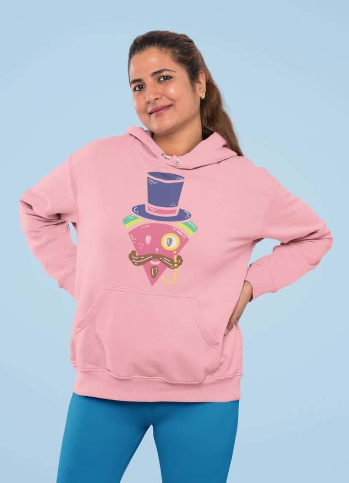 pullover hoodie mockup of a woman with a half up hairstyle 31970