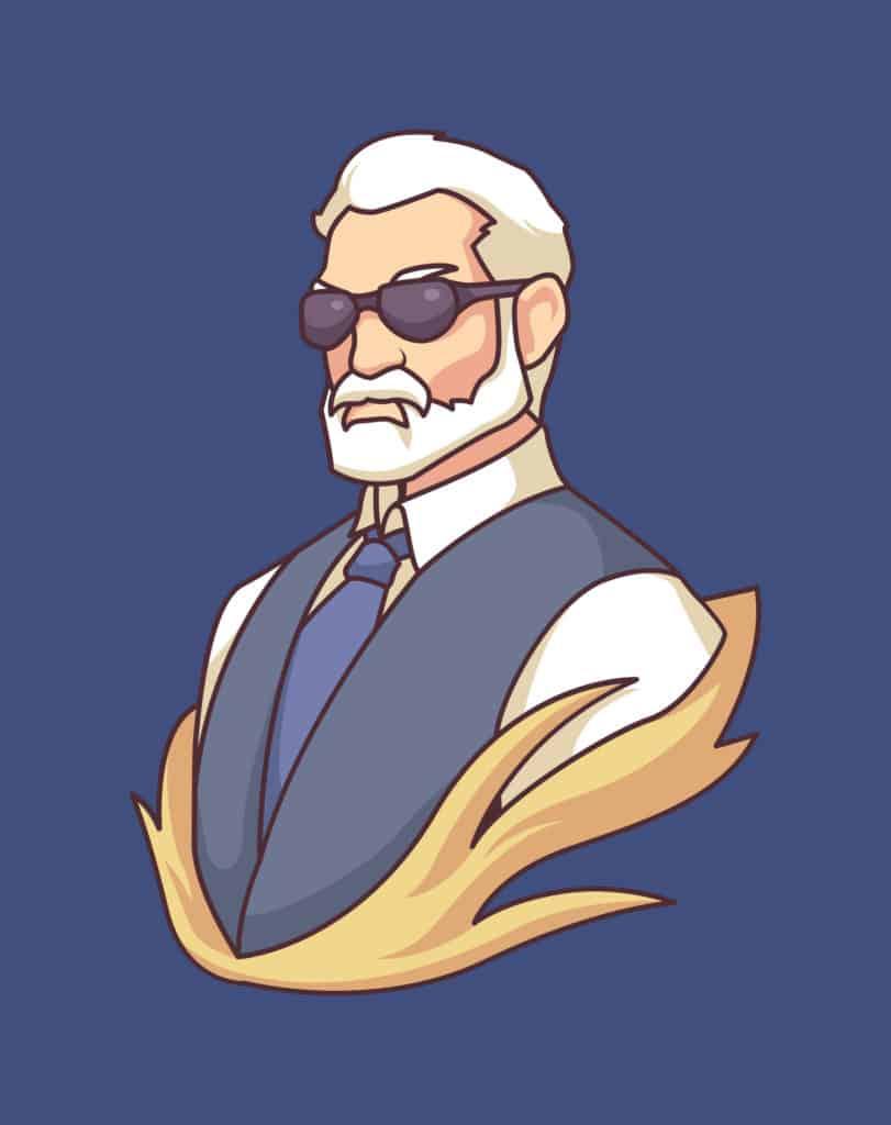 vector art of a slaying senior dad