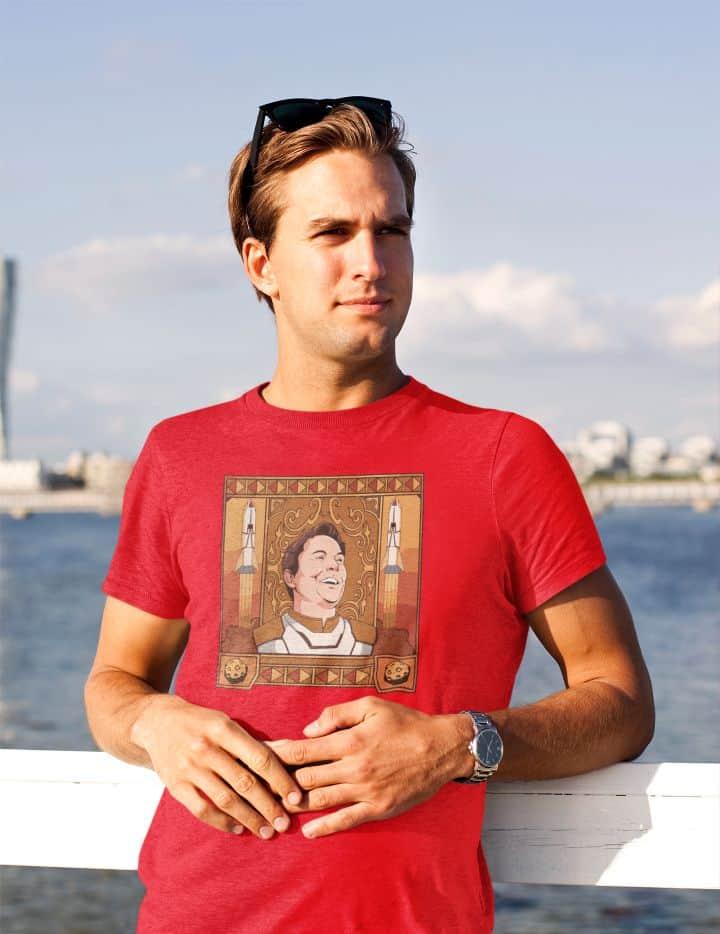 t shirt mockup of a young man posing at a bay 45772 r el2 1