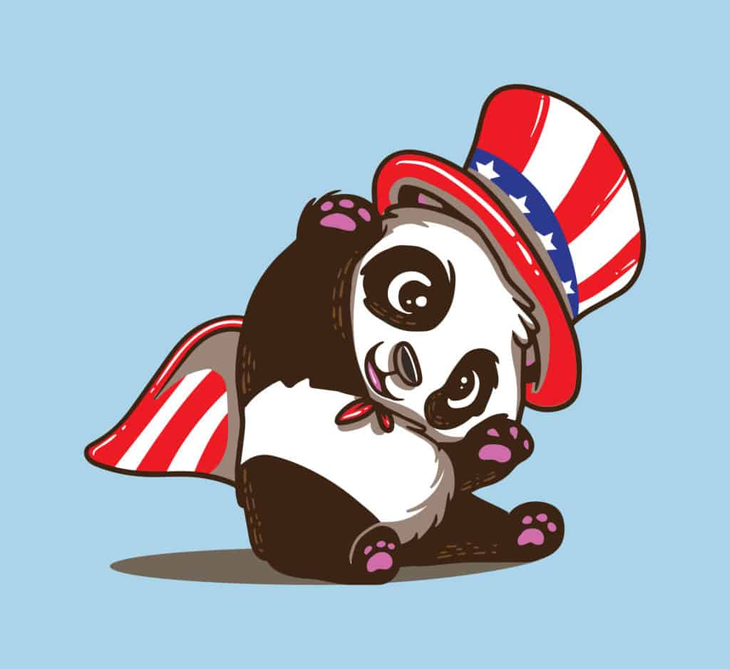 vector art of a cute panda wearing a hat