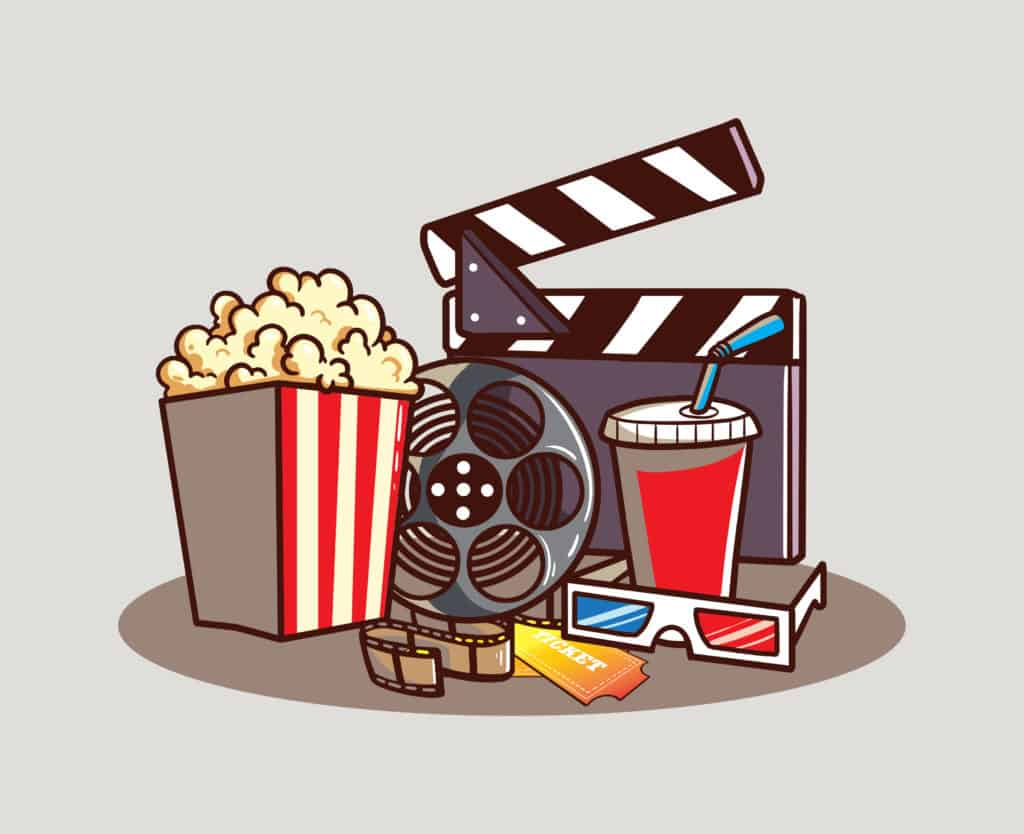 vector art of going to the movies essentials