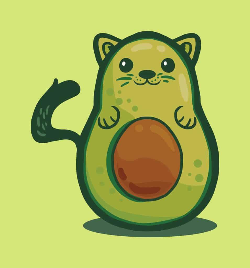 Avocato cat design