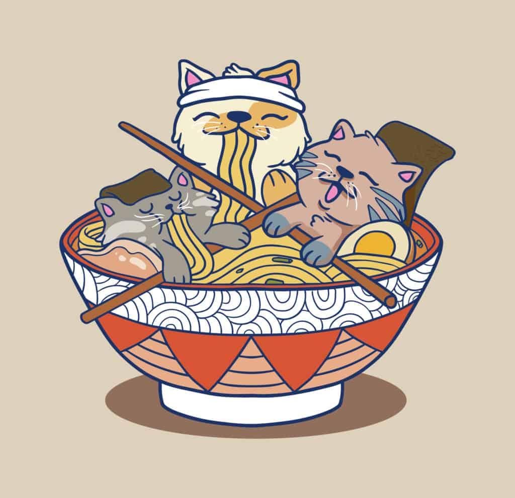 Cat Ramen cat design
