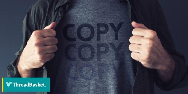 image of guy revealing shirt with the banner design copy