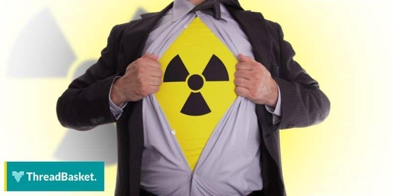 image of guy revealing shirt with warning or toxic design