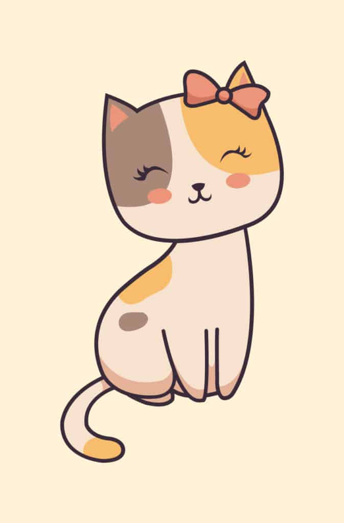 A pretty smiling kitty