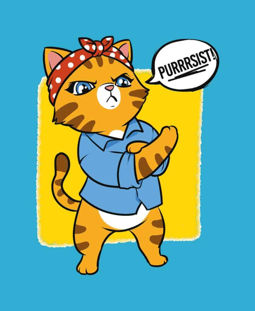 Purr-sist feminist cat design