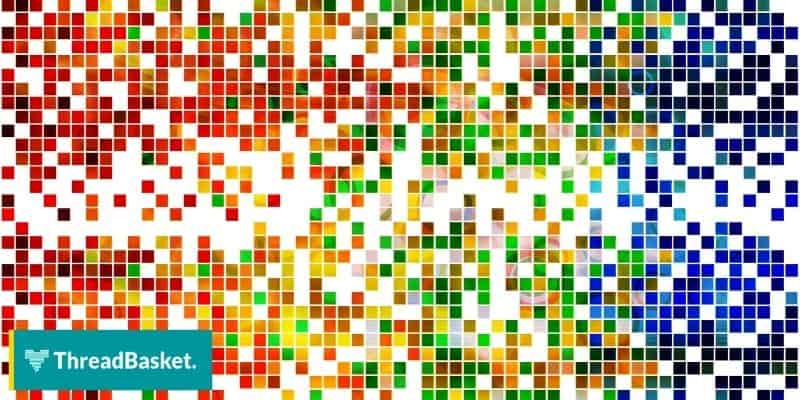 image of a pixelated design with different colors 2