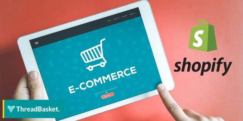 ipad mock up for ecommerce with shopify logo on the side